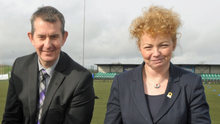 Political football: Stormont Executive ministers Edwin Poots and Caral Ni Chuilin were both criticised for going off message