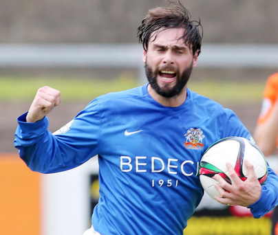 Star man: Gary Hamilton grabbed a point for Glenavon