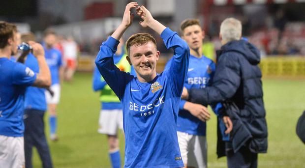 Points pursuit: James Singleton is hoping for a quick return to winning ways when Glenavon host Carrick Rangers tonight