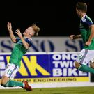 Bright spark: Mark Sykes has been shining for both Glenavon and the Northern Ireland Under-21s