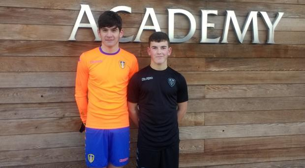 Showing their class: NI Under-16 duo Conner Byrne and Dylan Boyle at Leeds Academy