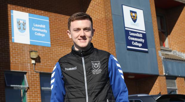 Schoolboy stuff: James Singleton happy in his work at Laurelhill Community College