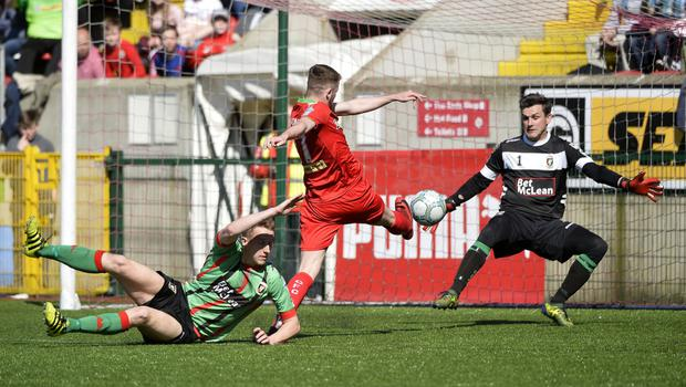 Rory Donnelly hits the Reds' second