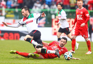 Portadown and Michael Gault felt hard-done-by in the 2015 final. The midfielder was through on goal when he was brought down by Willie Garrett, just 30 seconds before Glentoran raced up the pitch and scored the winner.