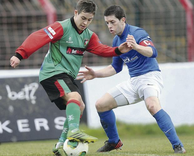 Staying put: Promising talent Jordan Stewart has agreed a new two and a half year contract at Glentoran