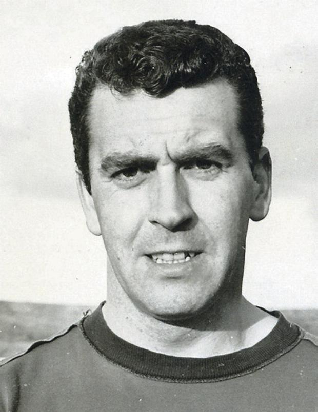 Glentoran player/coach John Colrain