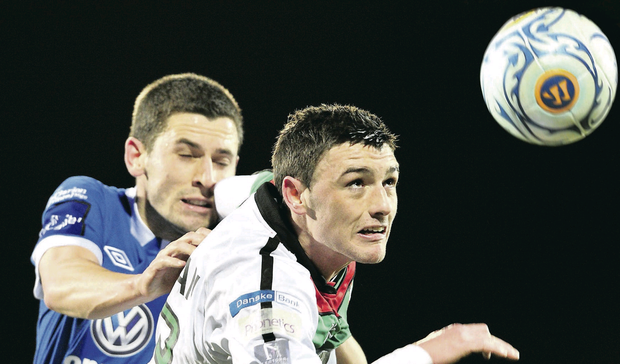 Glentoran player John McGuigan was apprehended at a Belfast nightclub