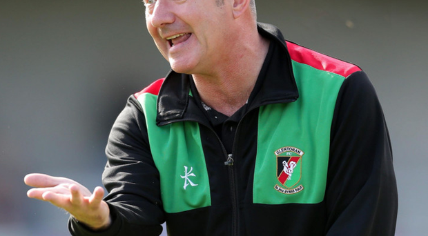Up for a battle: Glentoran boss Eddie Patterson hopes to burst the Linfield bubble