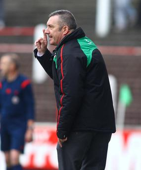 Going nowhere: Eddie Patterson's one-year extension gives his Glens contract two years to run