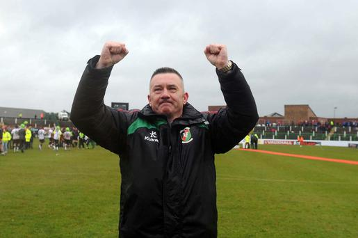 Knockout blows: Glentoran boss Eddie Patterson would love to bring more silverware to The Oval