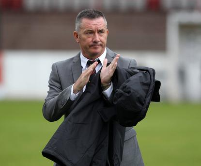 Not happy: Glens boss Eddie Patterson has hit out at his side's lack of work rate in recent weeks