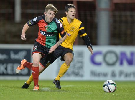 Huge potential: Talented teenager Jonathan Smith has been catching the eye for Glentoran