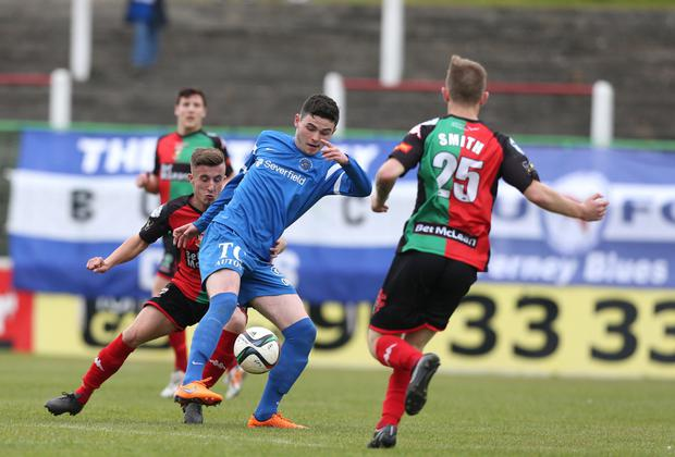 Twist: Johnny Courtney says Ballinamallard can push on