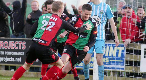 It's there: Glens hero Jim O'Hanlon sets off in celebration