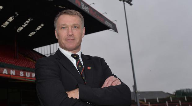 Oval boss: Alan Kernaghan has the backing of his former Manchester City team-mate Steve Lomas