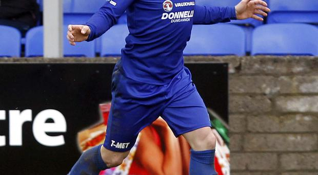 New surroundings: Chris Lavery during his Dungannon days