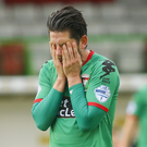 Chance gone: Glentoran strikers Curtis Allen has yet to find the net this season