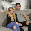 Happy families: Curtis Allen and fiancée Cheryl at their home