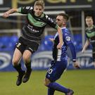 Unhappy: Dungannon Swifts midfielder Ryan Harpur