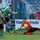 Star man: Glens goalkeeper Elliott Morris shone