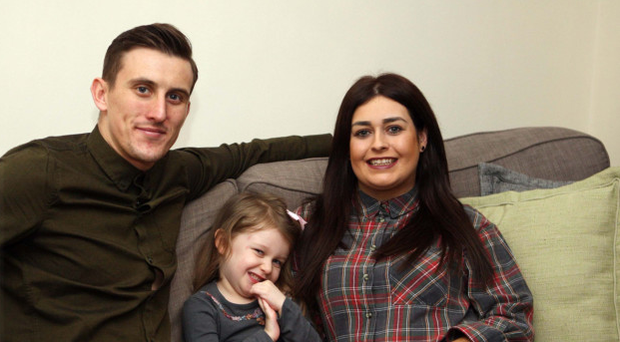 Happy families: Marcus, Mollie and Aimee at home in Ballygomartin