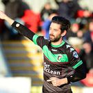 Four-midable: Glentoran striker Curtis Allen