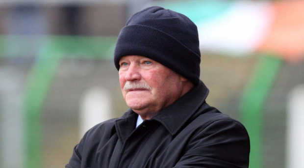 Back in the habit: Glentoran manager Ronnie McFall enjoyed a debut win