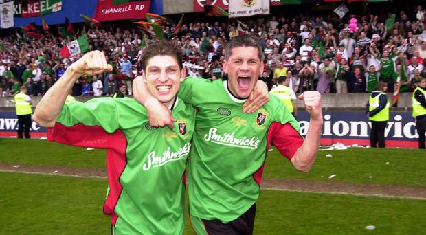 Dream team: Paul Leeman will take up a role alongside Gary Smyth in Glentoran's new managerial set-up
