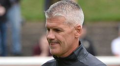 Up for it: Gary Smyth believes Glentoran can get a result