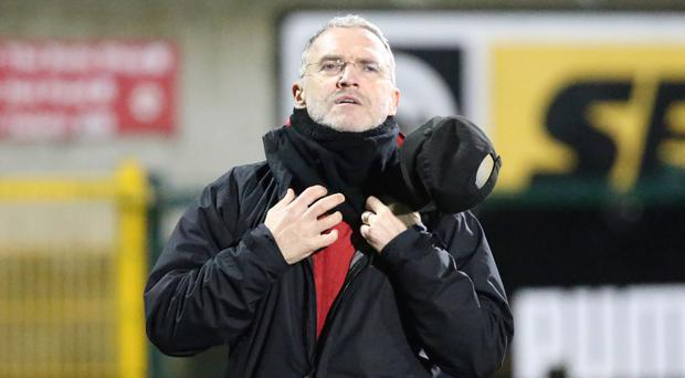 Fighting back: Glentoran boss Mick McDermott wants his team to respond to their midweek County Antrim Shield defeat