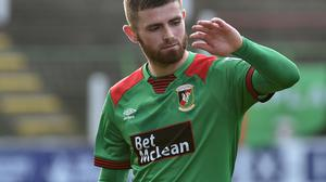 In form: Ruaidhri Donnelly has been on the goal trail recently