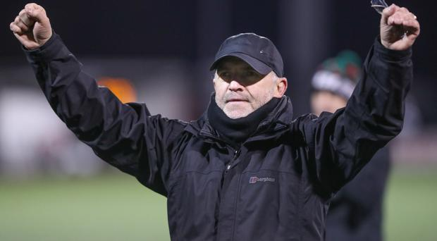 Hands up: Mick McDermott believes rivals are worried about the Glens