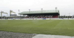 Moving house: Glentoran are looking to say an emotional farewell to The Oval pacemaker