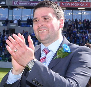 Clear aim: David Healy says retaining the Gibson Cup is his No.1 goal, and anything that comes along with it will be a bonus