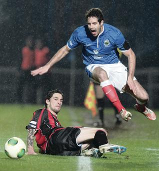 Title alert: Sean Ward is hoping Linfield can finish top of the pile