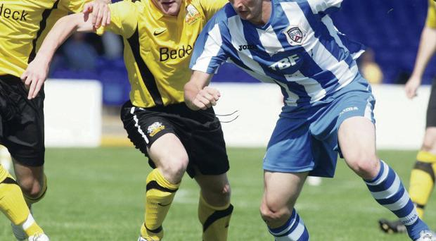 Windsor bound: Sammy Morrow, pictured in his Coleraine days, has become Warren Feeney's first signing as Linfield manager