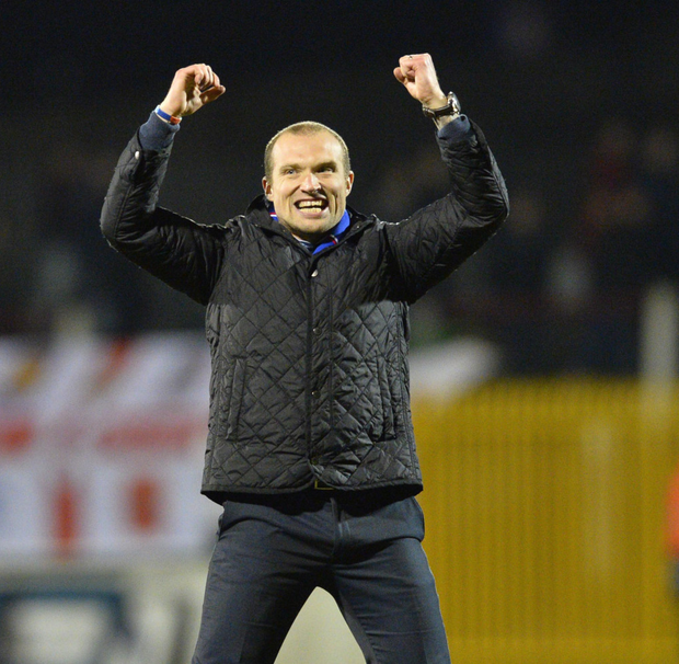 Big win: Linfield boss Warren Feeney says his boys will fight to the finish