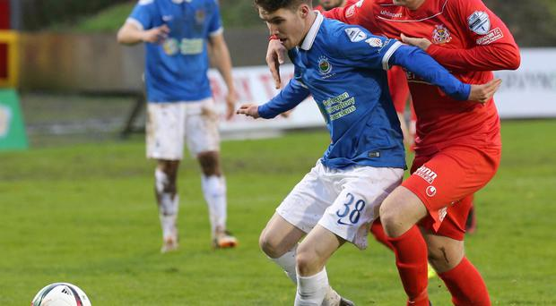 Having a ball: Paul Smyth has impressed since making his Linfield debut and has started in the last three league games