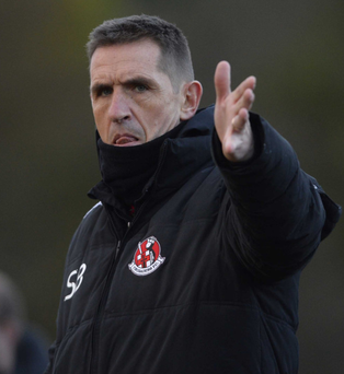 Tough hurdle: Stephen Baxter says his Crues are in for a difficult afternoon against beaten League Cup semi-finalists Glenavon