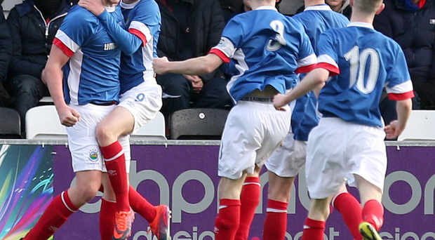 Final fantasy: Cameron Stewart roars with delight after putting the Wee Blues 2-0 up