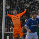 Safe hands: Just two months after celebrating Linfield Swifts' Steel and Sons Cup success, Alex Moore was part of the senior side that overcame Glentoran in Saturday's Big Two derby