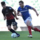 Driving force: Linfield skipper Jamie Mulgrew says Irish League football is on the rise