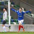 Paul Smyth is off to QPR but Linfield will get a player in return.