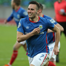 On the rise: Andy Waterworth is confident Linfield can put last season's disappointments behind them