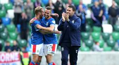 No complacency: Linfield manager David Healy says he expects a tough test despite his side easily disposing of Dungannon in the League Cup during the week