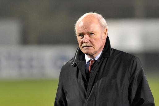 Adrift: Ronnie McFall warns derby is a 'must win' game