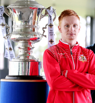 Silver lining: Robert Garrett is targeting his fourth Irish Cup winner's medal