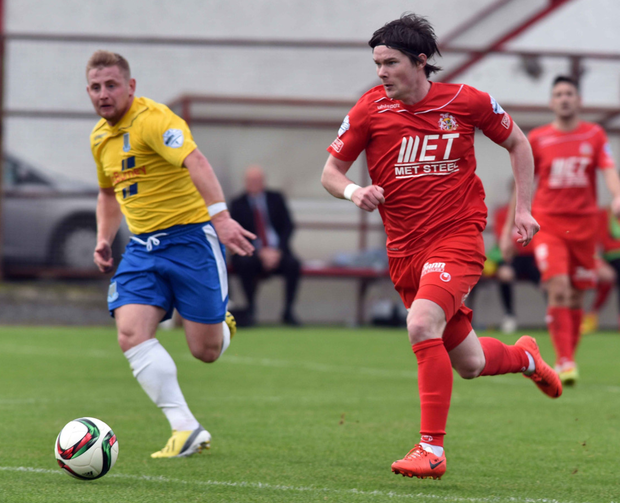 Decision due: Portadown were to learn the outcome of their appeal against a 12-point deduction for irregularities in Peter McMahon's contract on Thursday. However, as the club is suspended from all football activity, the appeal cannot be heard.