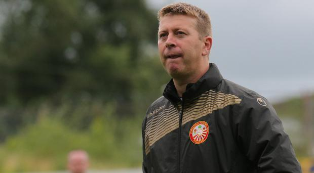 Positive: Pat McGibbon says Portadown are looking up
