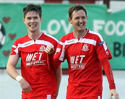 Cash row: Peter McMahon (left) and Gary Twigg have departed Portadown but issues over the club's payments to the players have cast cloud over local football
